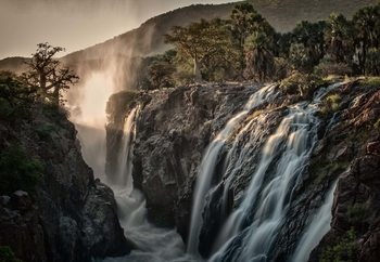Sacred Waterfalls Wallpaper Mural