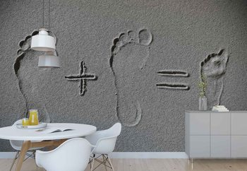 Sand Arithmetic Wallpaper Mural
