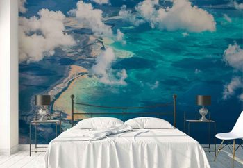 Sand Beach Meets Ocean Wallpaper Mural
