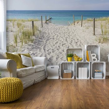 Sandy Beach Path To The Sea Coastal Wallpaper Mural
