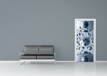 SILVER SATELLITES Wallpaper Mural