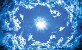Sky Clouds Sun Nature Wallpaper Mural