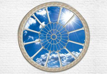 Sky Ornamental Window View Wallpaper Mural