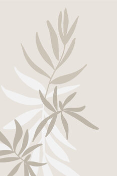 Solid greenery in neutrals Wallpaper Mural