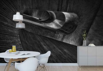 Staircase Concrete Wallpaper Mural