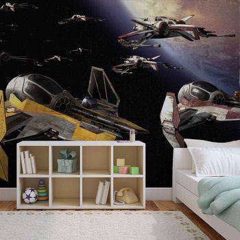 Star Wars Anakin Jedi Starfighter Wallpaper Mural
