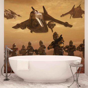 Star Wars Attack Clones Wallpaper Mural