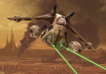 Star Wars Republic Attack Gunship Wallpaper Mural