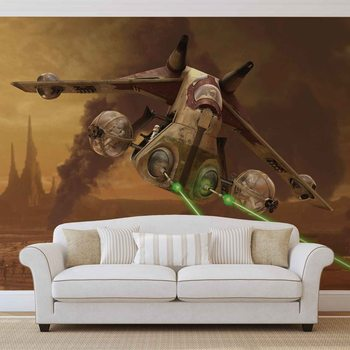 Star Wars Republic Attack Gunship Wallpaper Mural