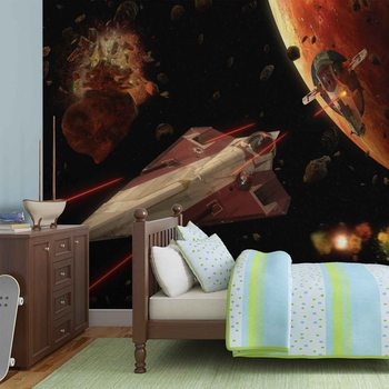 Star Wars Slave I Craft Wallpaper Mural
