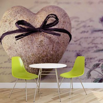 Stone Heart Flower Tie Wallpaper Mural