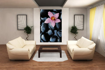 STONE ORCHID Wallpaper Mural
