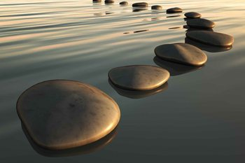 Stones Ripples Zen Wallpaper Mural