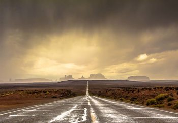 Strom In Monument Valley Wallpaper Mural