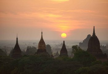 Sunrise In Bagan Wallpaper Mural