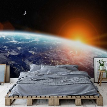 Sunrise Over Planet Earth Wallpaper Mural