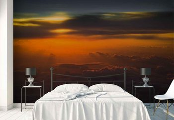 Sunset Over Sky Wallpaper Mural