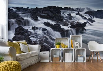 The Tide And The Rocks Wallpaper Mural