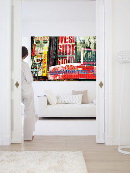 TIMES SQUARE NEON STORIES Wallpaper Mural