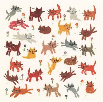 Tiny kittens, 2010,collage Wallpaper Mural