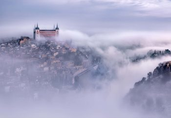 Toledo City Foggy Morning Wallpaper Mural
