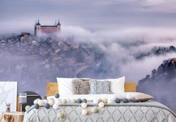 Toledo City Foggy Morning Wallpaper Mural
