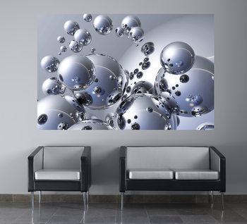 TREVOR SCOBIE - silver orbs Wallpaper Mural