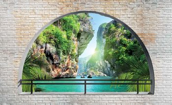 Tropical Arch View Wallpaper Mural