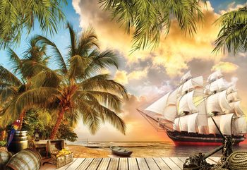 Tropical View Wallpaper Mural