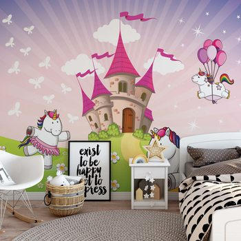 Unicorn Castle Wallpaper Mural