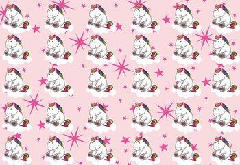 Unicorn Pattern Pink Wallpaper Mural