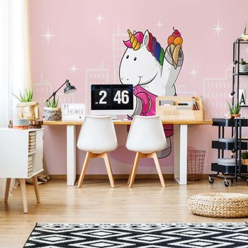 Unicorn Pink Wallpaper Mural
