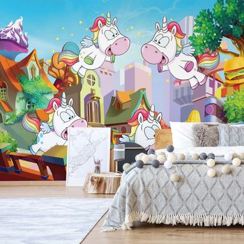 Unicorn Town Wallpaper Mural