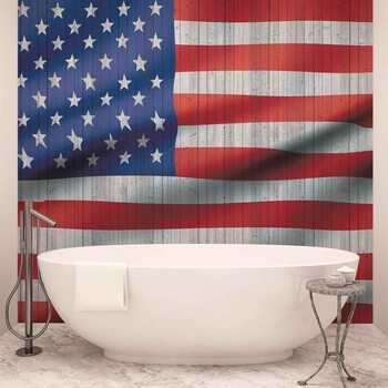 USA American Flag Wallpaper Mural