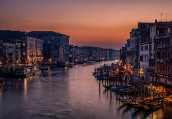 Venice Grand Canal At Sunset Wallpaper Mural