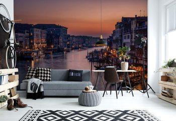 Venice Grand Canal At Sunset Wallpaper Mural