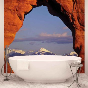 View Rock Mountains Nature Wallpaper Mural
