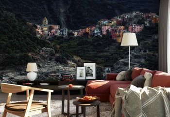 Village On The Rocks Wallpaper Mural