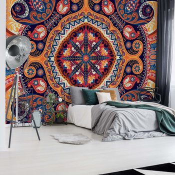 Vintage Ethnic Pattern Wallpaper Mural