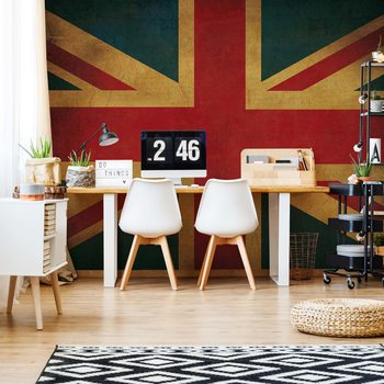 Vintage Flag Uk Union Jack Wallpaper Mural