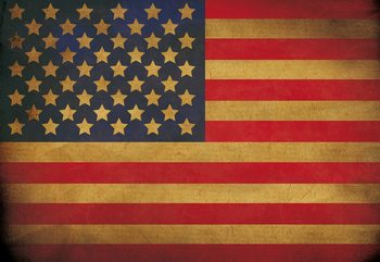 Vintage Flag Usa America Wallpaper Mural