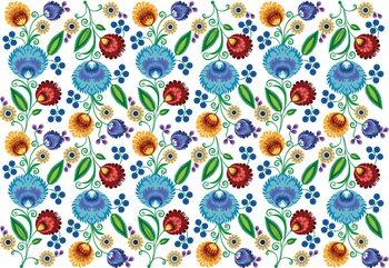 Vintage Floral Pattern Wallpaper Mural