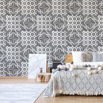 Vintage Tile Pattern Wallpaper Mural