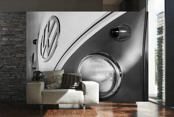 Volkswagen - Camper badge black & white Wallpaper Mural