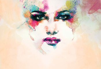 Watercolour Face Wallpaper Mural