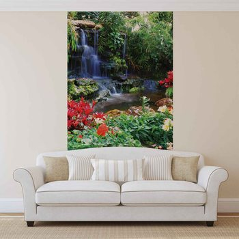 Waterfall Forest Nature Wallpaper Mural