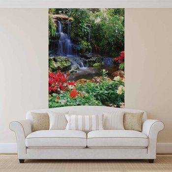 Wallpaper Mural Waterfall Forest Nature