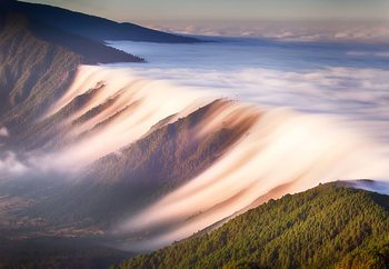 Waterfall Of Clouds Wallpaper Mural