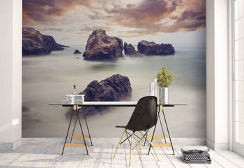 Waves And Rocks Wallpaper Mural