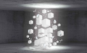 White Dices Wallpaper Mural